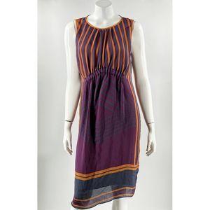 Max Studio London Dress Size Medium Purple Gold
